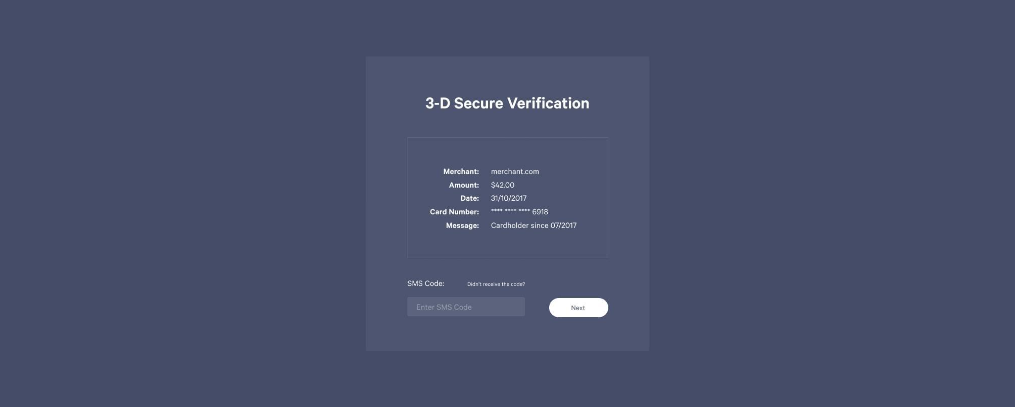 3-D Secure Form