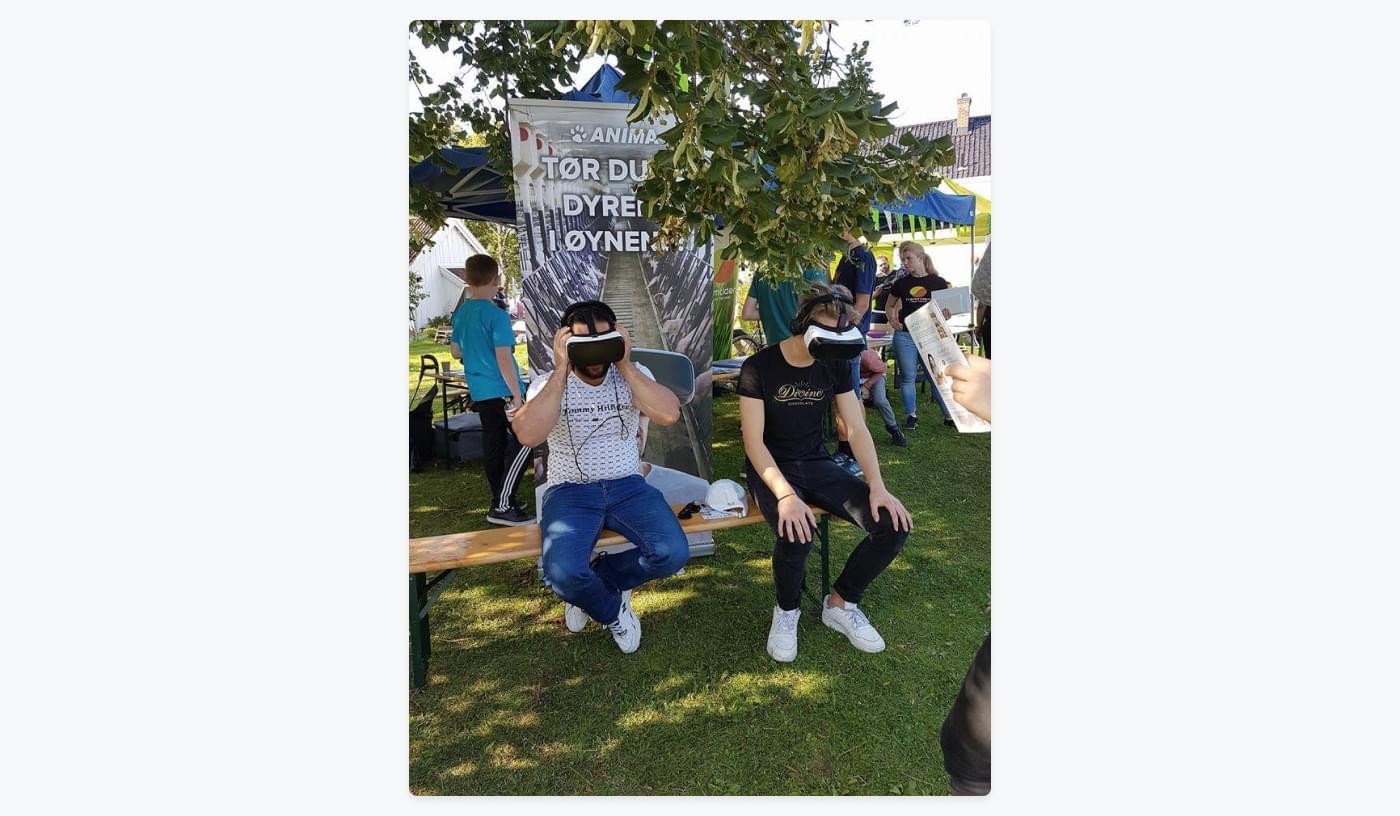 two guys trying Animas virtual reality