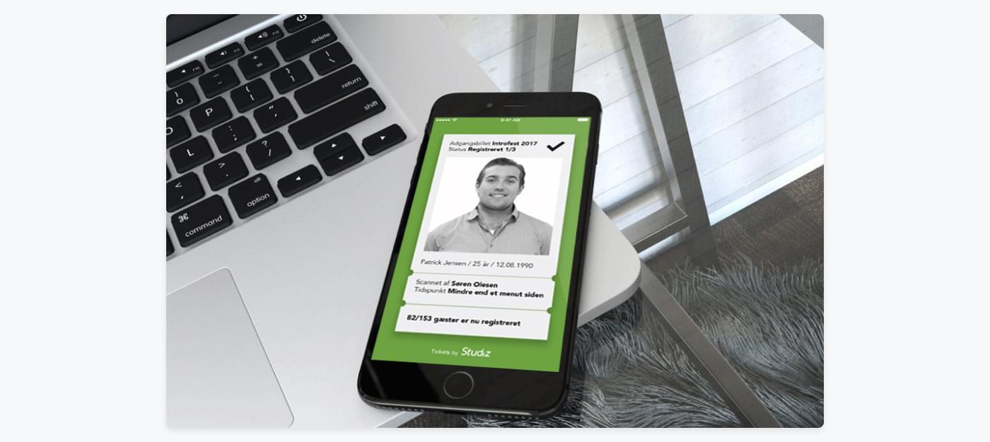 Screenshot af Studiz billetsystem for studerende