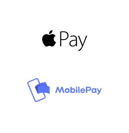 Clearhaus mobile payments logos - Apple Pay, MobilePay